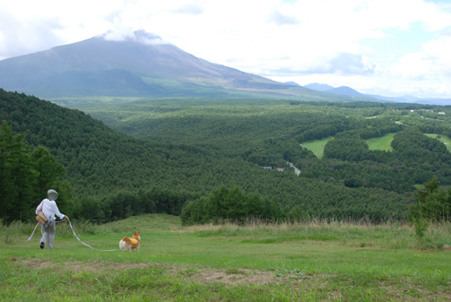 浅間山を眺めつつ